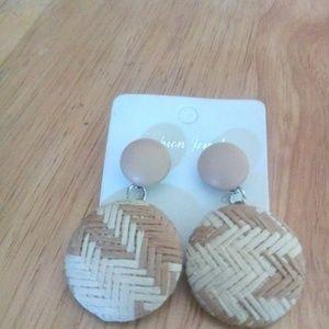 Jewelry - Beige Handwoven Earrings